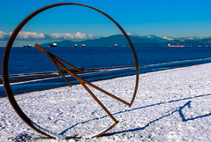 Industrial Sculture at English Bay (Jim Gritton) Tags: vancouver winter sculpture