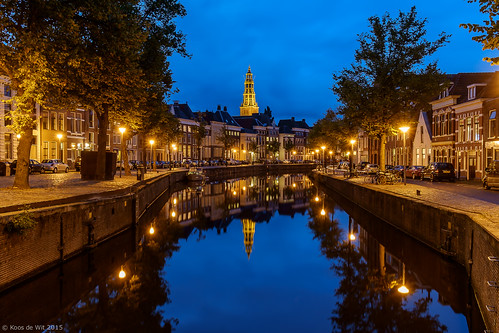 AA-church at blue hour, Groningen