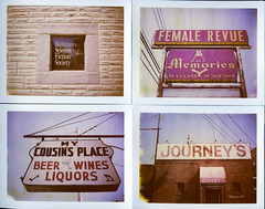 (patrickjoust) Tags: city fiction urban usa brick film beer sign female bar club analog america polaroid us md focus united north memories review patrick maryland rangefinder science baltimore strip tavern type instant 100 states manual liquors expired polyptych joust society saloon journeys discontinued apart wines estados defunct peal unidos formstone quadriptych expired2005 autaut femalerevue baltimoresciencefictionsociety patrickjoust mycousinsplace polaroidautomatic350 polaroid669polacolor inaclassofourown