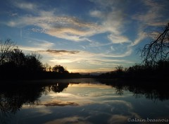 """"""" In the black, in the white , in the blue.."""" (alain.beauvois62) Tags: lac bleu armagnac gers"""