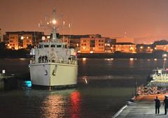 HMS Hurworth M39 (1) @ London's Royal Docks 12-09-15 (AJBC_1) Tags: night military nighttime cityatnight warship royalvictoriadock minesweeper eastlondon rn shipsatnight royalnavy mcv nikond3200 newham 2015 dsei royaldocks m39 excelexhibitioncentre militaryvessel navalvessel londonboroughofnewham hmshurworth minehunter londonexcelcentre huntclass minecountermeasuresvessel dlrblog londonsroyaldocks ajc shipsinpictures