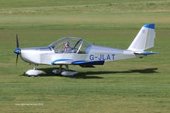 G-JLAT - 2003 build Aerotechnik EV-97 Eurostar, taxiing to parking on arrival at Barton (egcc) Tags: manchester eurostar barton microlight latimer cityairport ev97 aerotechnik gjlat pfa31514068 egcb rotax912