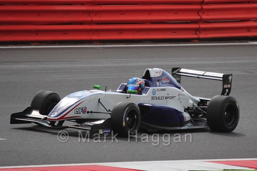 Jake Hughes in the Formula Renault 2.0 Saturday Race at Silverstone in WSR 2015