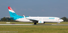 LX-LBA Luxair Boeing 737-8C9(WL) (Niall McCormick) Tags: dublin airport aircraft boeing airliner luxair eidw 7378c9wl lxlba