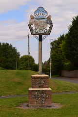 Village Sign (halfpintspictures) Tags: steeple ww2 raf morden usaaf 8thaf
