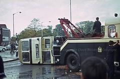 BCT 1699 overturned (Lady Wulfrun) Tags: city birmingham transport 29 overturned bct overturn 1699 acocksgreen foxholliesroad highfieldsroad hov699