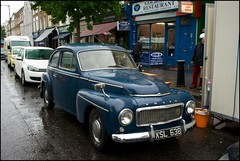 Wet Volvo - DSC07753a (normko) Tags: road street london classic car rain volvo automobile market pv544 golborne