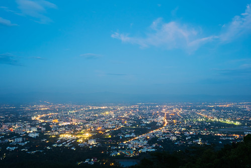 Top view of Chiang Mai, Thailand