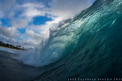 Half Point Left (j . f o o j) Tags: hawaii oahu sandys sandybeach waterhousing nikkor16mmf28fisheye liquideyewaterhousing nikond610