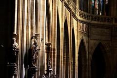 "Praga CZ - ""San Vito"" (Lucchese Fabrizio) Tags: church statue praga unesco chiesa statua scultura"