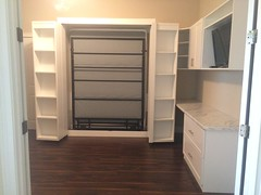 The Boaz Bed (murphybeddepot) Tags: murphy murphybed wallbed desk office home tiny house decor design white whiteash sidecabinet side cabinet bed wall tinyhouse spacesaving space interior interiordesign boaz boazbed