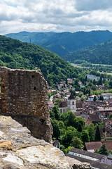 Staufen from the castle ruin I (scrondo99) Tags: berg deutschland sony himmel wolken ruine turm schwarzwald tal burg breisgau staufen badenwrttemberg sdschwarzwald hochschwarzwald slta58