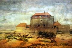 fort mahon (roberke) Tags: france photoshop landscape textures photomontage layers frankrijk nordpasdecalais landschap ambleteuse fortmahon opaalkust