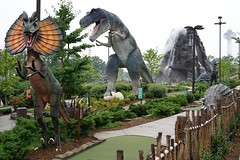 Mini-golf Jurassic Park | Jurrassic Park themed mini-golf