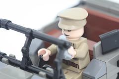 Russian WW2 LEGO GAZ67 driver (dmikeyb) Tags: car female soldier flask lego jeep wwii drinking soviet ww2 driver minifig females russian gaz67
