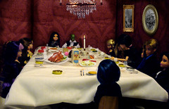 Funeral dinner (TheDollLover) Tags: eve red halloween monster dinner photoshop gerbil high dolls mask action room rip funeral figure girlz moxie bratz hallows teenz bratzillaz