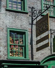 School Books for Sale (Kevin MG) Tags: usa sign architecture harrypotter fl universalstudios