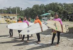 The girls are getting ready for surfing at Cox's Bazar's beach, Bangladesh (jowel juboraj) Tags: poverty school girls english tourism beach girl club community education asia surf surfer poor culture surfing tourist tourists beaches cox surfers misery schools society bangladesh bazar lifesaving coxsbazar surfergirls poors surfingclub