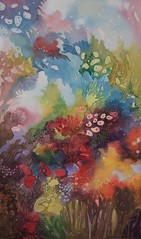 coral-reef (Ezartesa) Tags: ocean sea rainbow stunning coralreef marinelife bluecoral redcoral watercolorpainting mostbeautiful purplecoral spectrumofcolors undewaterworld nauticaldecor coastaldecor ezartesa coralpainting abstractreef