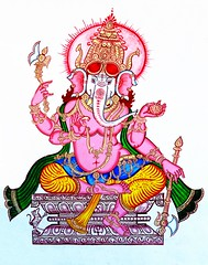India - Odisha - Puri - (Raghurajpur - The Heritage Village) - Wall Painting - Ganesha - 1 (asienman) Tags: india ganesha mural goddess wallpainting puri hindudeities pattachitra odisha asienmanphotography raghurajpurheritagevillage