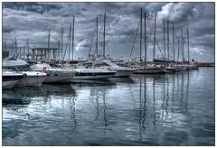 Yachting in Calp (kurtwolf303) Tags: ocean sea sky espaa reflection topf25 water clouds sailboat marina puerto harbor spain topf50 topf75 wasser europe 500v20f harbour yacht outdoor dramatic eu himmel wolken topf150 hafen topf100 spiegelung hdr spanien 800views omd yachting calpe costablanca levante segelboote calp 2000views greatphotographers 3000views 900views 2500views photomatixpro 99f 750views 1500v60f 1000v40f 250v10f hafenviertel systemcamera unlimitedphotos micro43 microfourthirds olympusem1 100favesonly