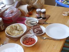 kenkey sardines corned beef fresh pepper (amaah) Tags: food pepper berkeley culture ghana comfort sardines immigration diaspora cornedbeef kenkey