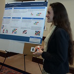 Rachael Huff '18 presenting her research