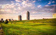 Along the Arakawa (Mule67) Tags: tower japan golf course saitama 55 elsa kawaguchi arakawa 2015 5photosaday