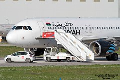 5A-ONB LMML 23-12-2016 (Burmarrad) Tags: airline afriqiyah airways aircraft airbus a320214 registration 5aonb cn 3236 hijacked lands malta international airtport passengers crew 2 hijackers that where with them disembarked safely lmml 23122016