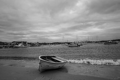 DSC02117 (Damir Govorcin Photography) Tags: boats shore water sea ocean watsons bay sydney clouds sky overcast blackwhite monochrome sand zeiss 1635mm sony a7ii landscape perspective creative
