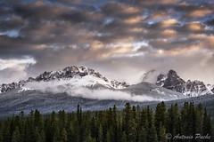 Volando sobre las Rockies. (Antonio Puche) Tags: antoniopuche paisajes landscapes mountain montaña niebla nube cloud amanecer sunrise banff canadá alberta nikon nikond800 nikon7020028 fog