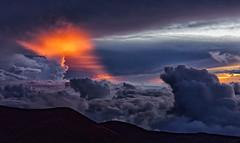 Skyscape panorama from Mauna Kea (marko.erman) Tags: maunakea unitedstates hawaii summit peak mountain high top panorama skyscape sky sunset colors outside blue orange sun sony bigisland