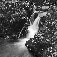 Washing Mono (Brian Travelling) Tags: trossachs loch lubnaig voil water sky waterfall pentaxkr pentax scotland scenery landscape square squarecrop