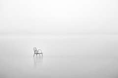 Lonely children chair in the fog (The Black Fury) Tags: monochrome sea long exposure blackandwhite minimalist longuepose noiretblanc seascape fog winter water nature canon700d sigma1770mmf284dcoshsmcontemporary bw light minimalism