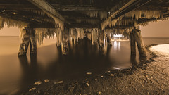 After the storm, under the pier (Sopot) (Piotr_PopUp) Tags: storm pier cold freeze sea frozen ice sopot molo longexposure slowshutter night nightlights nightshot nightphotos dark reflection water poland polska samyang 14mm wideangle winter zima