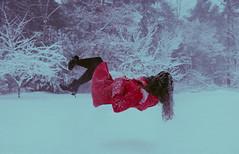 alone (lauren zaknoun) Tags: aliceinwonderland conceptual darkphotography fairytale fantasy floating girl haze levitation levitationphotography newengland red redcoat snow snowday surreal surrealphotography winter