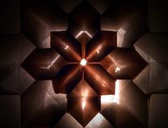 Folded Paper-Hydrangea (yoganand.c) Tags: justwhitepaper macromondays origami hydrangea fujimoto backlit recursion recursive paper folding geometric tile tiling