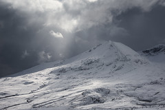 Creag Dhubh (North Top) - Beinn Eighe. (Chris..Miles) Tags: creagdhubhnorthtop beinneighe spideancoirenanclachhill mountain torridon snow squall wintercoat