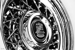 inversion... (Stu Bo) Tags: highkey canon certifiedcarcrazy classiccar car canonwarrior chrome caddilac caddy wirewheels vintagecar vintageautomobile blackandwhite bnw bw monotone oldschool onewickedride worldcars warrior white whitewalls sbimageworks shadows showcar light legend dark idreamofcarsmotorsandhorsepower icon beautiful bestofshow