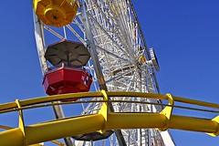 Pacific Wheel Gondolas (AntyDiluvian) Tags: california losangeles la santamonica beach santamonicabeach santamonicastatebeach santamonicapier pacificpark ferriswheel pacificwheel gondolas