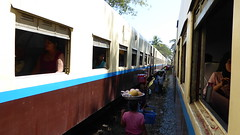 Food sellers between trains (Marshall_DC) Tags: mawlamyine myanmar trains food travel yangon