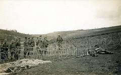 Assault troops demonstrate the art of negotiating enemy barbed wire under fire (✠ drakegoodman ✠) Tags: graf bothmer sturmtruppen