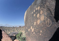 Petroglyphs / Volcanic Tablelands (Ron Wolf) Tags: california archaeology circle panel nativeamerican petroglyph rectangle anthropology shoshone rockart blm anthropomorph piute radiatinglines anthromorph diamondpattern connectedcircles numic volcanictableland solidcircle clusteredrectangles