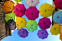 happy day (Werner Schnell Images (2.stream)) Tags: colorful installation umbrellas patricia arles ws schirme cunha