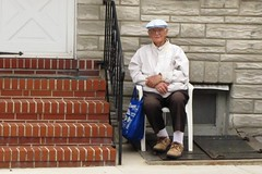 St. Anthony Festival, 2015, Little Italy, Baltimore, Maryland (A CASUAL PHOTGRAPHER) Tags: men portraits caps festivals hats maryland baltimore oldpeople littleitaly cinderblock rowhouses clothingdress stanthonyfestival agedpersons