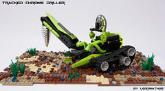 02_Tracked_Chrome_Driller (LegoMathijs) Tags: black green energy rocks desert lego crystal gates space tracks astronaut chrome planet scifi lime d04 miners driller tracked moc mathijs andromedas ores liftarm eurobricks legomathijs