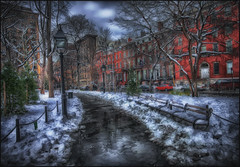 Winter in  Greenwich Village (Sunset Dogs) Tags:
