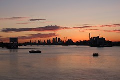 London Sunset (crashcalloway) Tags: sunset canarywharf riverthames woolwicharsenal