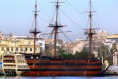 Santísima Trinidad (petrk747) Tags: voyage cruise sea travelling port spain ship malaga mediterraneansea sailingship santísimatrinidad saariysqualitypictures