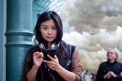 busted! (jonron239) Tags: woman london girl clouds balloons smartphone coventgarden clocked charlespétillon